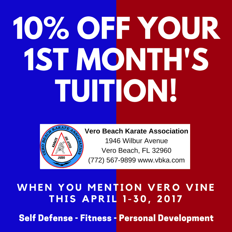 Vero Beach Karate Association - 10% Off Your 1st Month's Tuition!