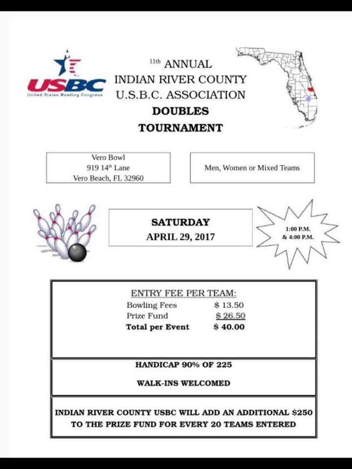 Indian River USBC Doubles Tourney