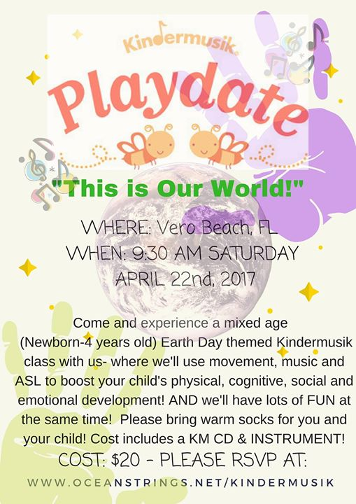 This is Our World! Kindermusik Playdate