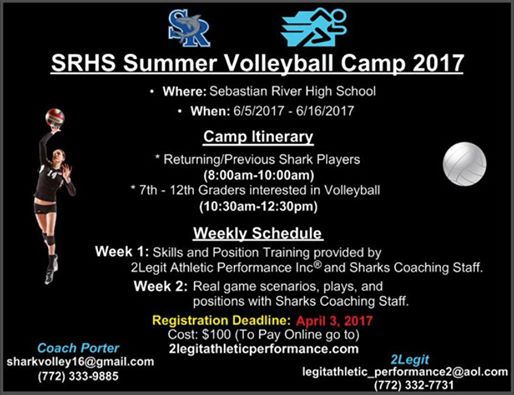 Srhs Summer Volleyball Camp 2017