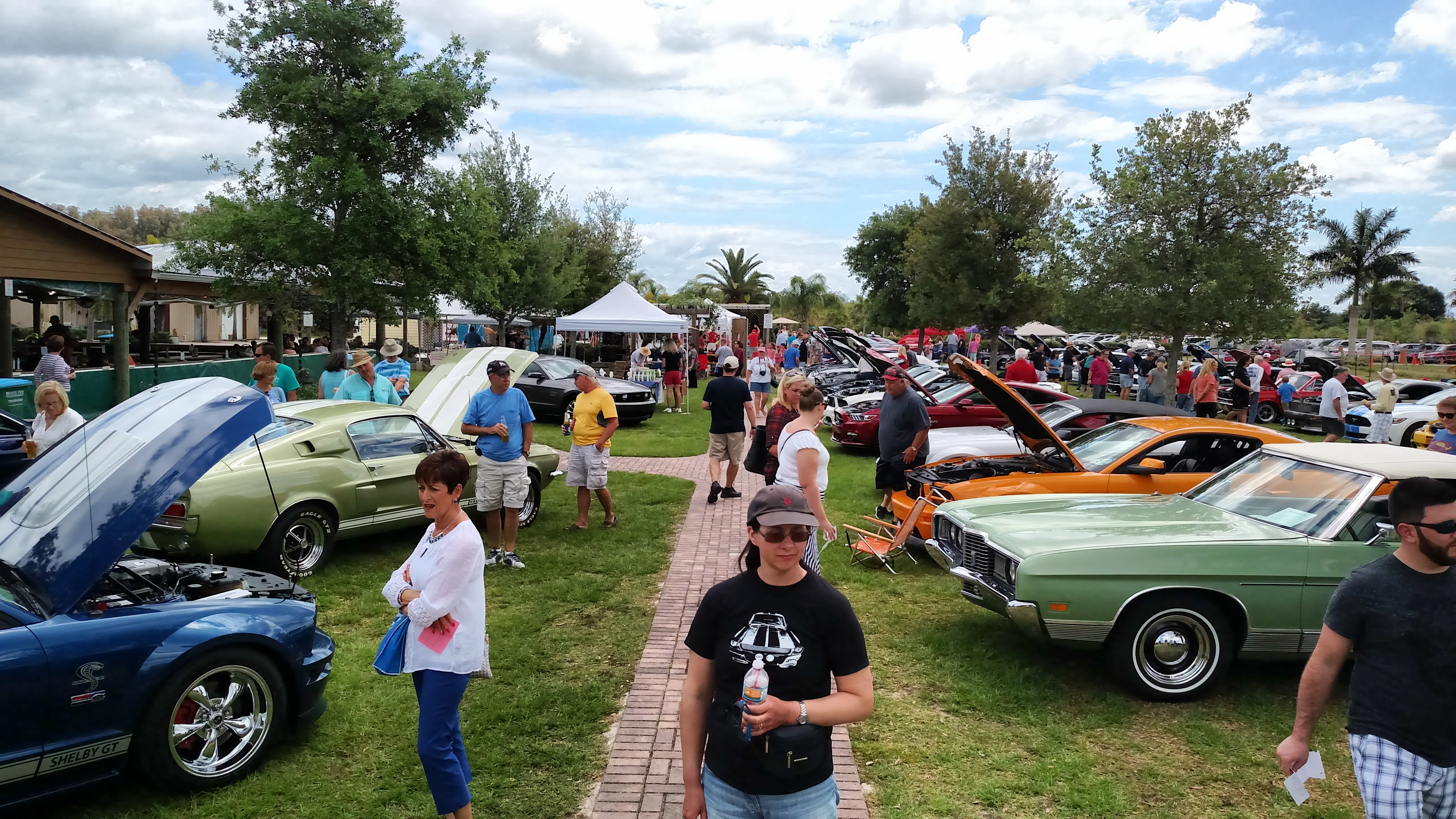 Horsin Around In The Vineyard Mustang Car Show With The Beatle - Vero beach car show