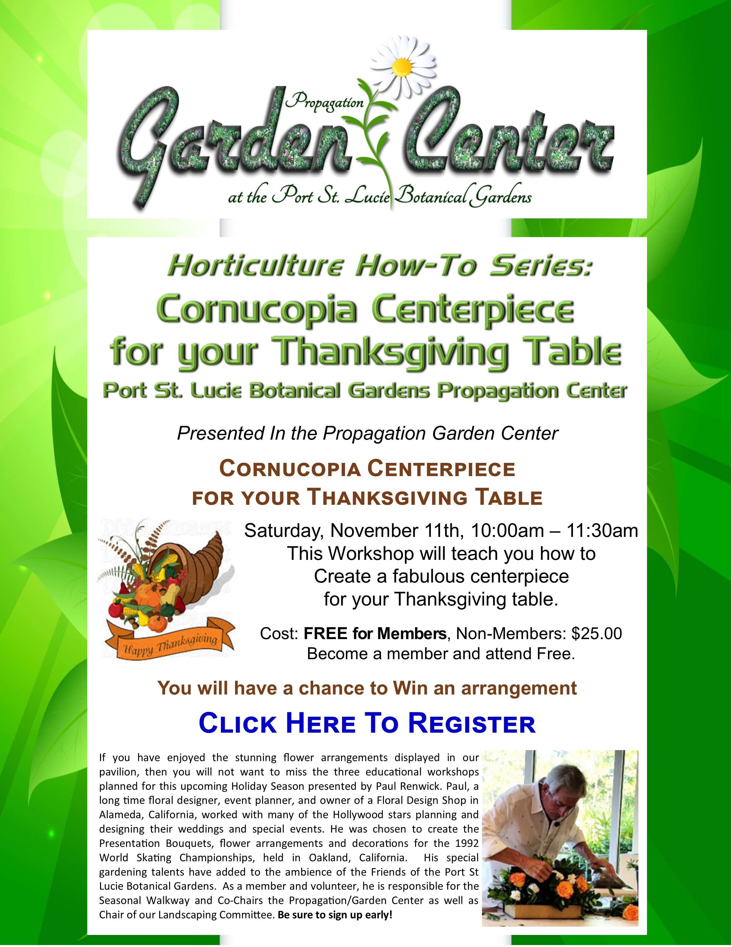 How-to Make A Cornucopia Centerpiece For Your Thanksgiving Table