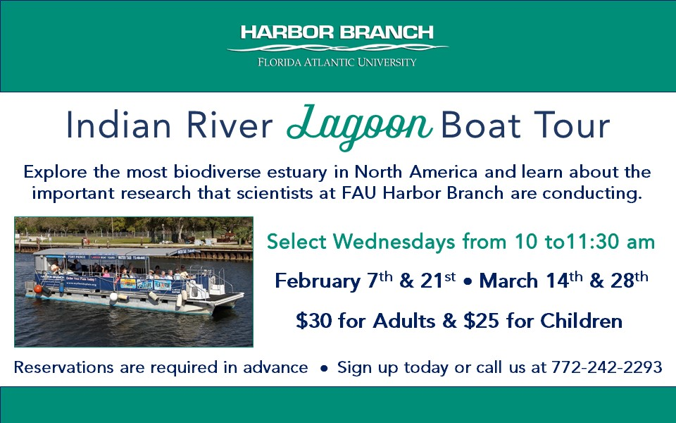 FAU Harbor Branch Indian River Lagoon Boat Tour
