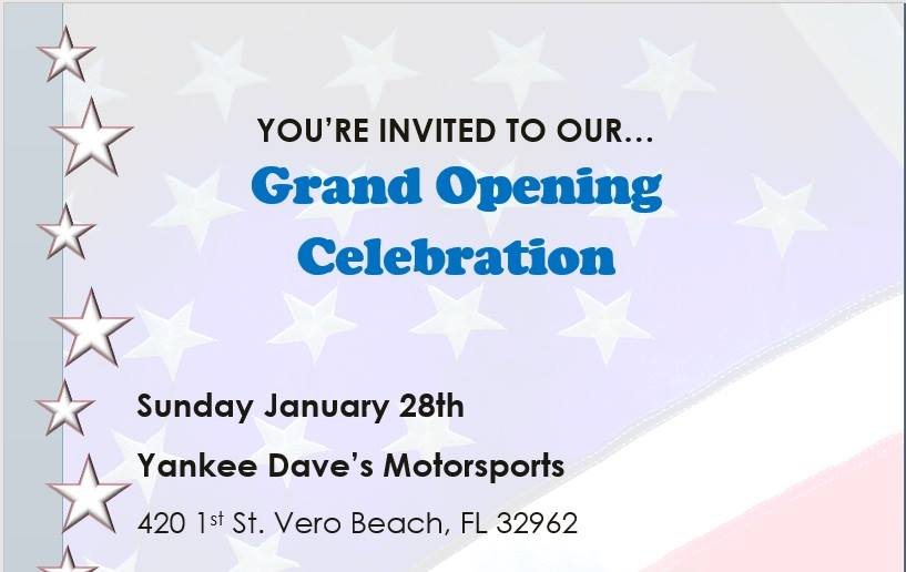 Yankee Dave's Grand Re-opening Celebration