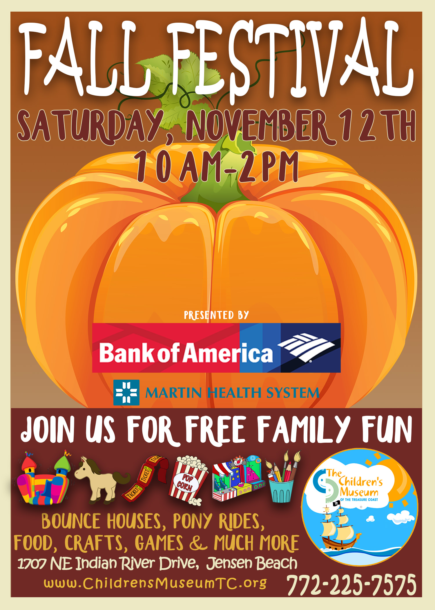 FREE Fall Festival At The Childrens Museum Of The Treasure Coast - Museums on us bank of america 2016