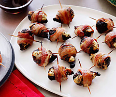 Prosciutto Wrapped Blue Cheese Stuffed Figs with a Balsamic Syrup