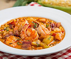 Caribbean Seafood Chowder with Sweet Potato & Lime