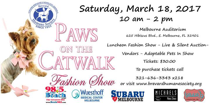 Paws On The Catwalk Fashion Show