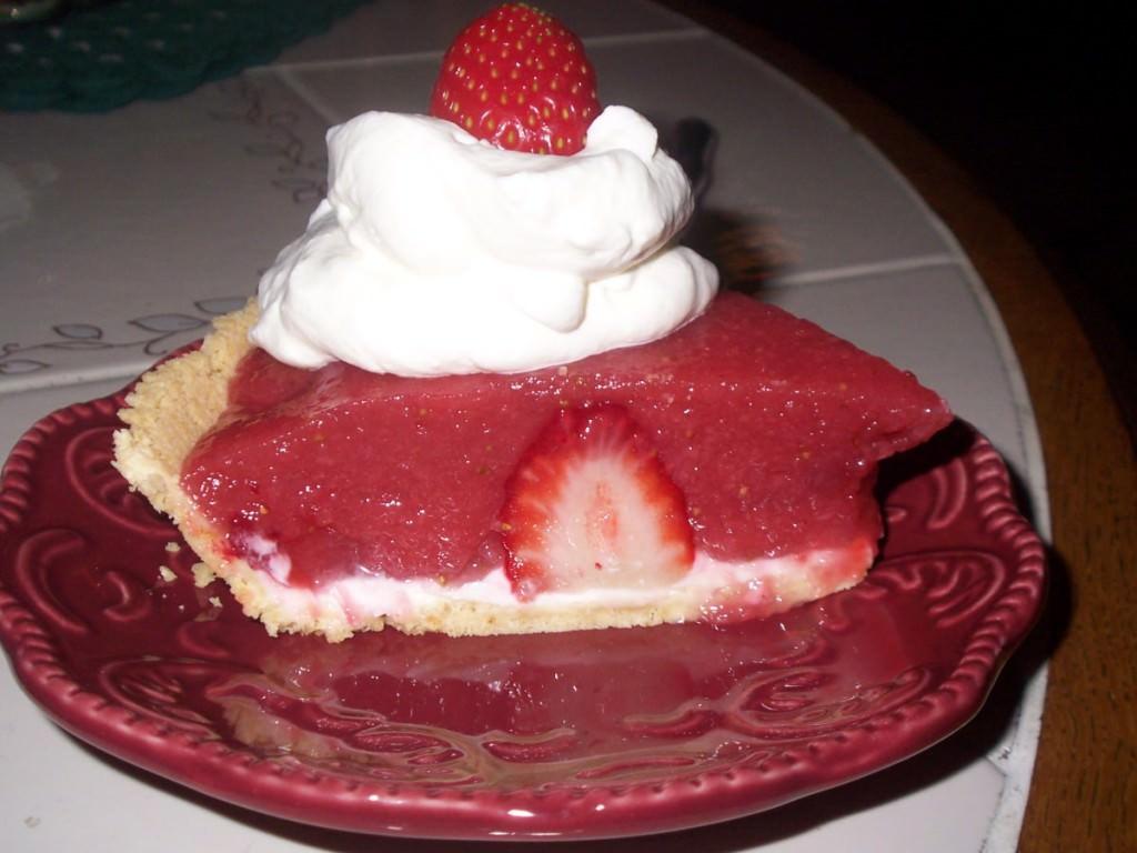 No Bake Strawberry Pie