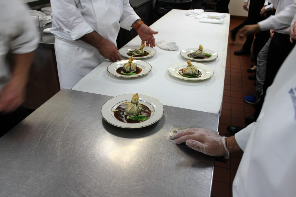 Completed plates ready to be served
