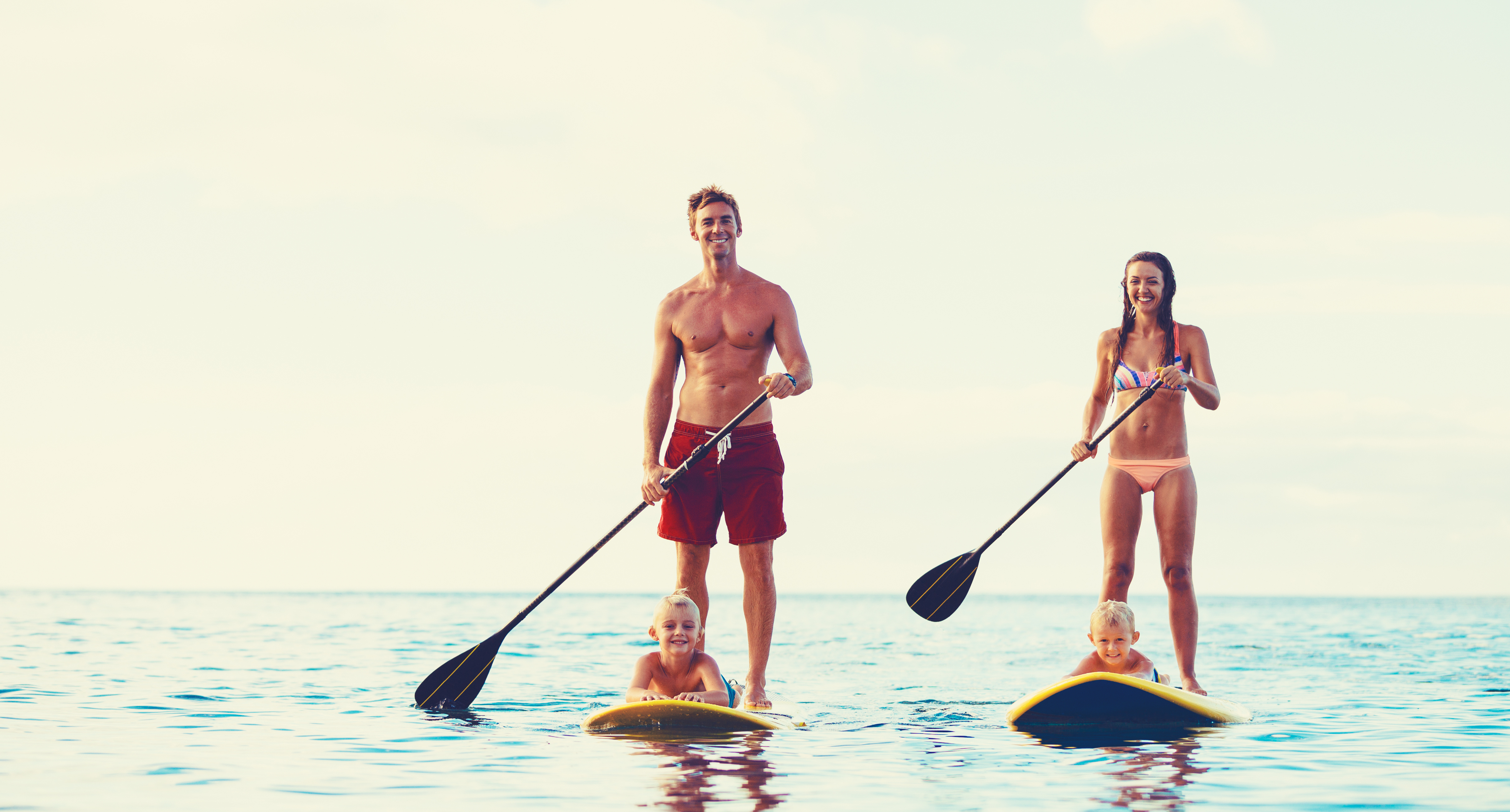 Stand Up Paddling With Children