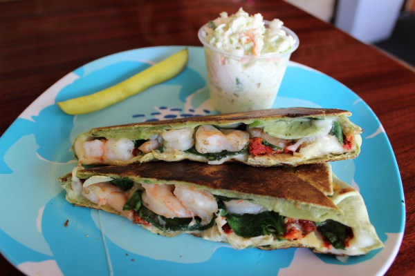 Tuscan Shrimp Wrap