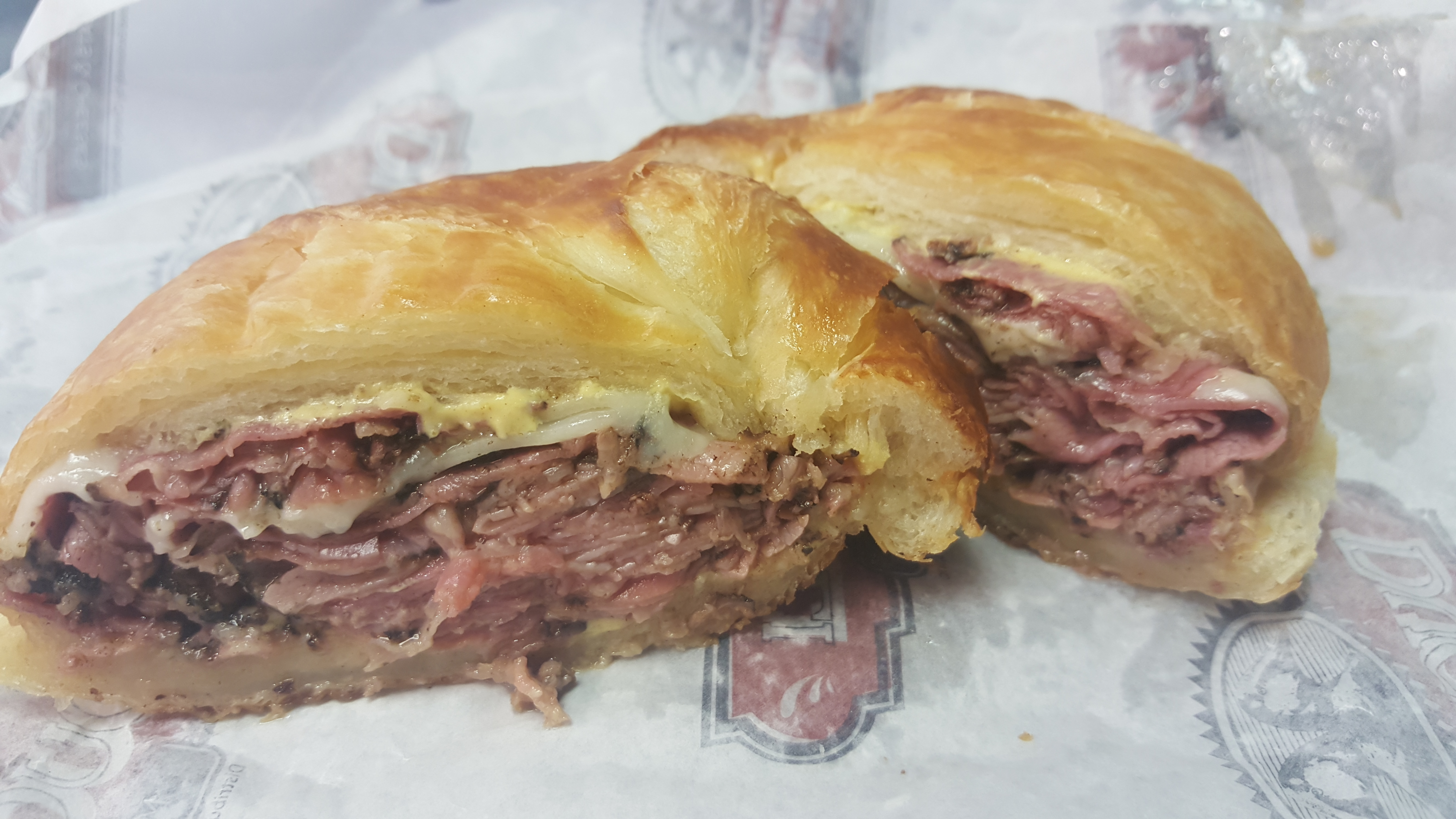 Hot Pastrami & Swiss on Croissant