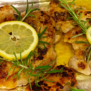Lemon Rosemary Pounded Chicken