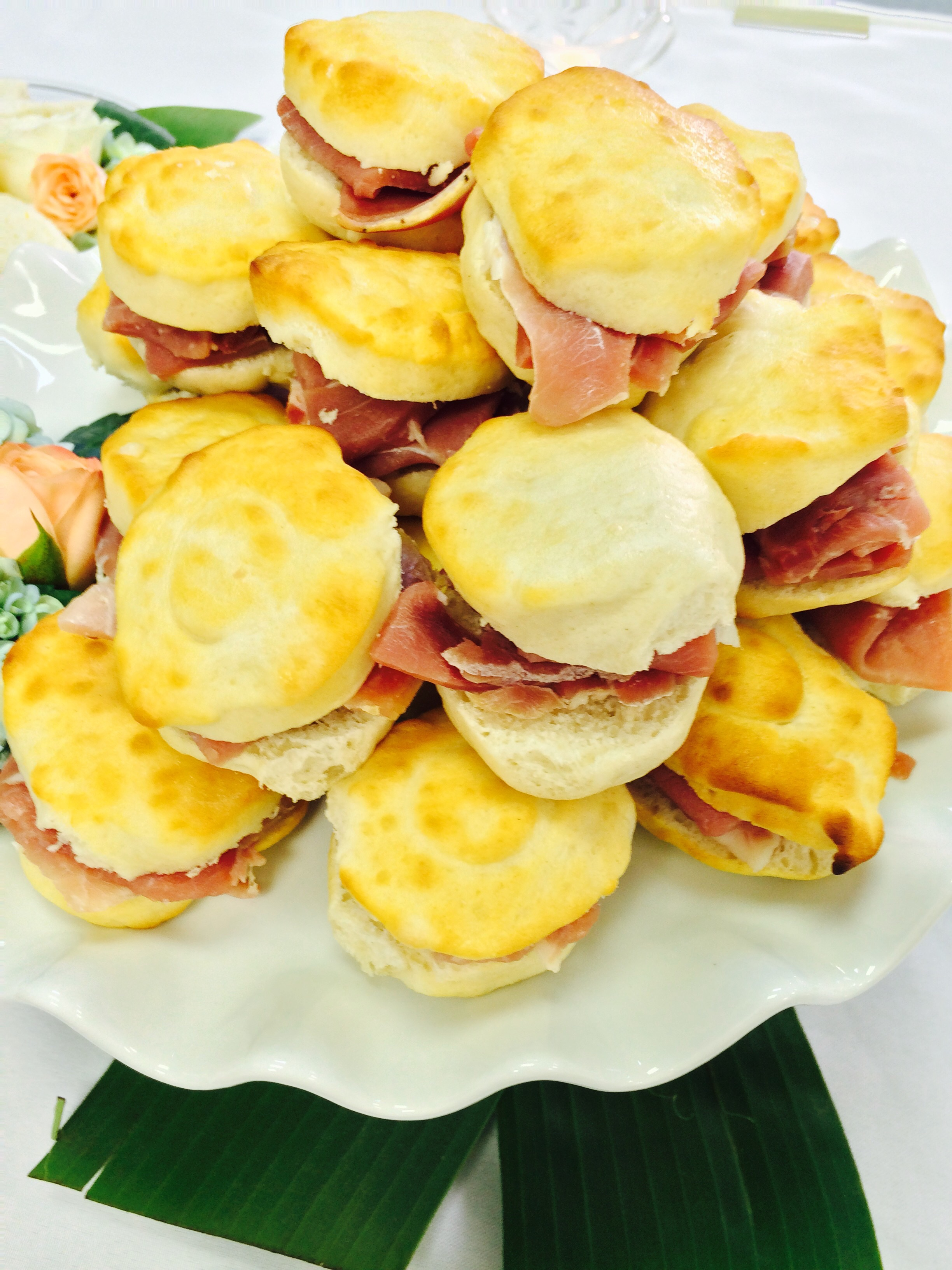 Ham Biscuits with Honey Butter